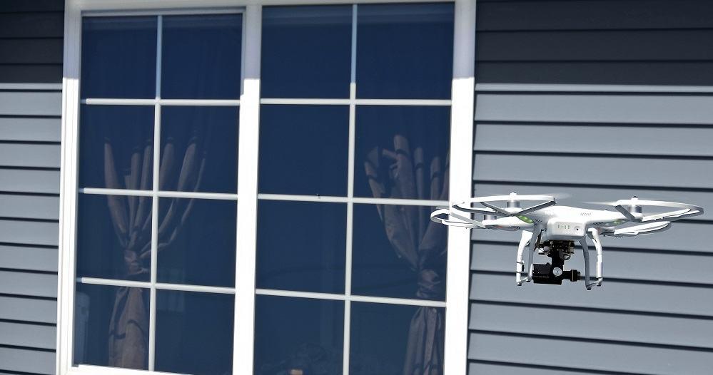 Drone by window