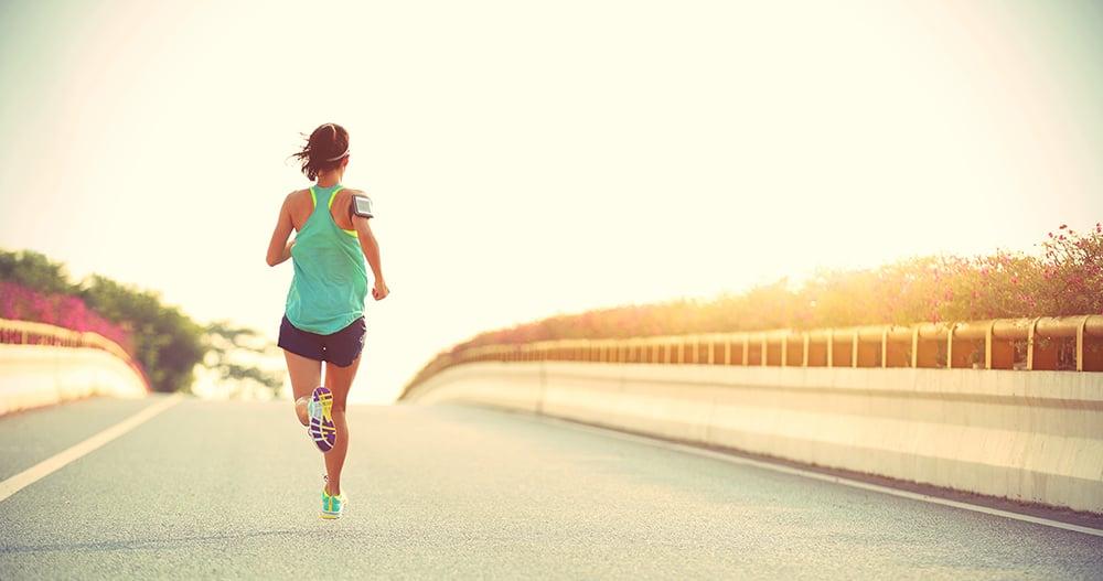 Woman jogging - breach of privacy